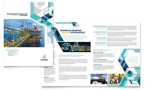Oil & Gas Company - Brochure Template