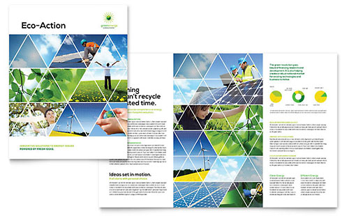 Green Energy Consultant InDesign Brochure Template