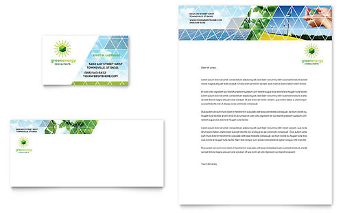 Green Energy Consultant Stationery Template