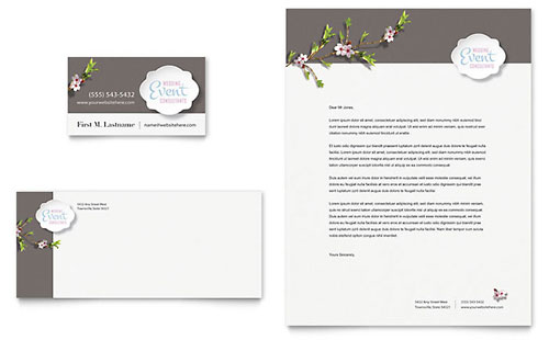 Wedding Planner Business Card & Letterhead Template