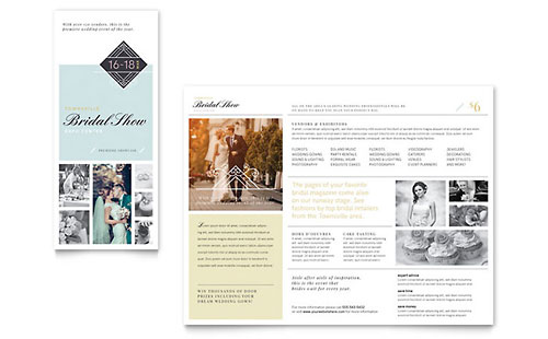 Wedding event planning templates brochures flyers for Wedding planner brochure template
