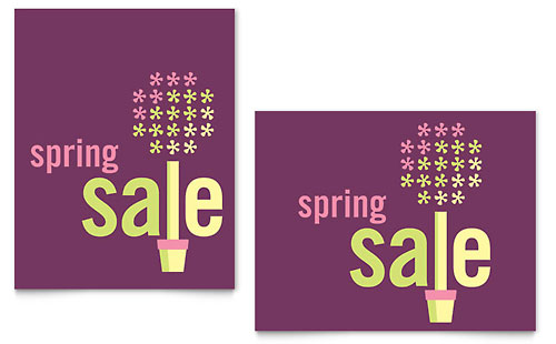 Spring Plant Sale Poster Template