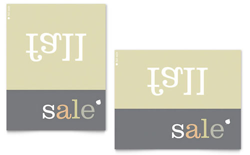 Inverse Upside Down Fall Sale Poster Template