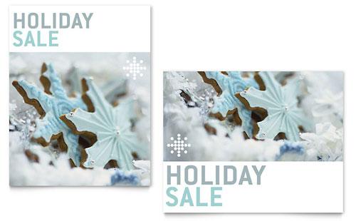 Snowflake Cookies Sale Poster Template