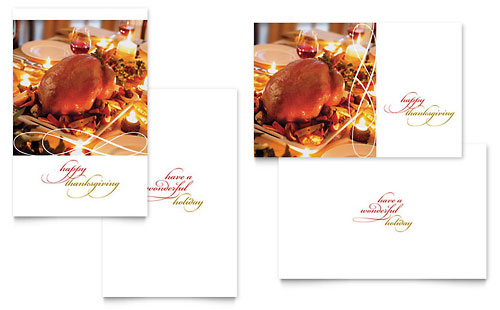 Happy Thanksgiving Greeting Card Template