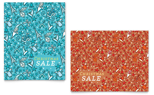 Christmas Confetti Sale Poster Template
