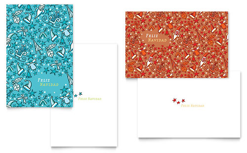 Christmas Confetti Greeting Card Template