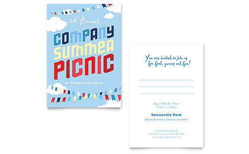 Company Summer Picnic Invitation Template