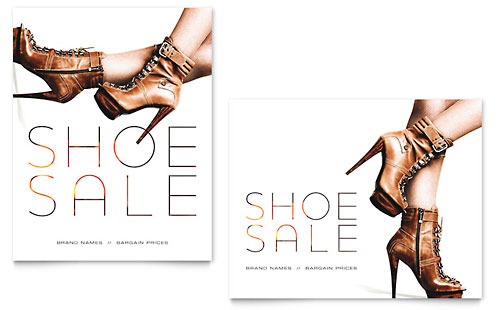 Designer Shoes Sale Poster Template