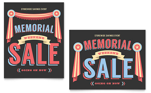 Memorial Day - Sale Poster Template