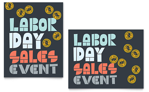 Labor Day Sale Poster Template