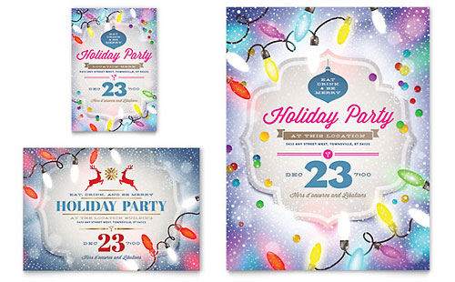 Holiday Party Flyer & Ad Template