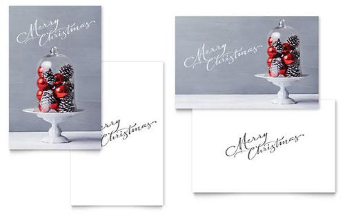 Christmas Display Greeting Card Template