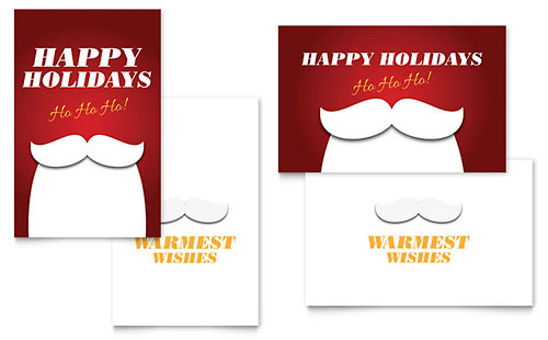 Happy Holidays Greeting Card Template Design – Holiday Card Template