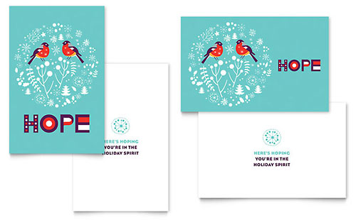 Hope Greeting Card Template