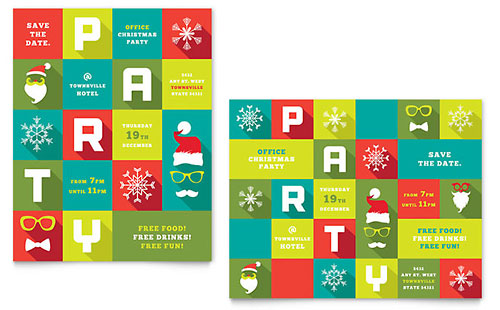 Work Christmas Party - Poster Template