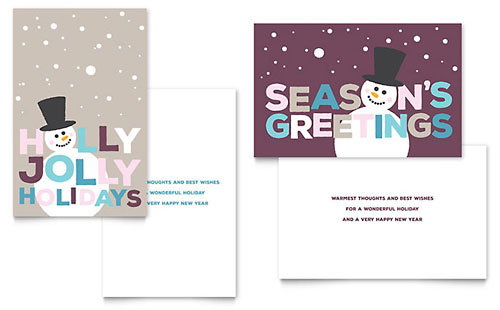 Jolly Holidays Greeting Card Template