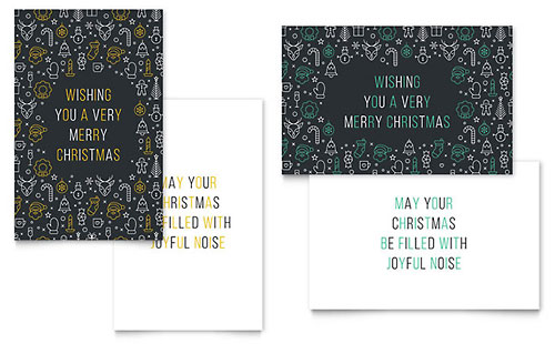 Christmas Wishes Greeting Card Template