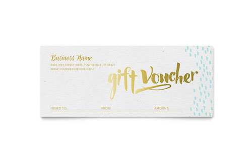 Elegant Gold Foil Gift Certificate Template