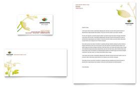 Landscape Design - Business Card & Letterhead Template