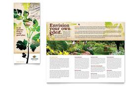 Landscape Design - Microsoft Word Tri Fold Brochure Template
