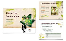 Landscape Design - PowerPoint Presentation Template Design Sample