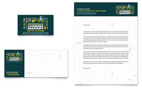 Farmers Market - Business Card Sample Template