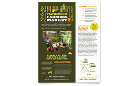 Farmers Market - Flyer Template Design Sample
