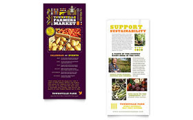 Farmers Market - Rack Card Template Design Sample