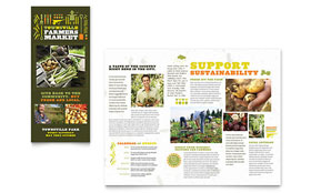 Farmers Market - Apple iWork Pages Tri Fold Brochure Template