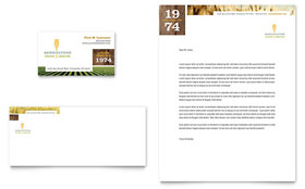 Farming & Agriculture - Business Card & Letterhead Template Design Sample
