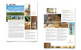 Farming & Agriculture - Sales Sheet Template