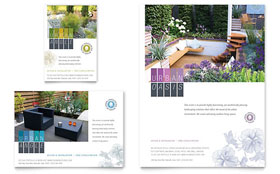Urban Landscaping - Print Ad Sample Template