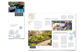 Urban Landscaping - Tri Fold Brochure Template Design Sample