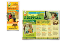 Harvest Festival - Microsoft Publisher Brochure Template
