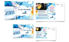 Car Wash - Postcard Template