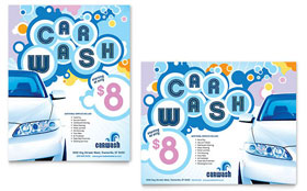 Car Wash - Poster Template Design Sample