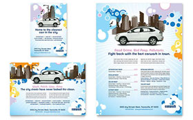 Car Wash - Leaflet Template