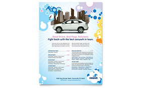 Car Wash - Flyer Template Design Sample