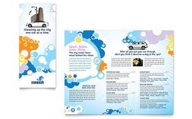 Car Wash - Tri Fold Brochure Template Design Sample