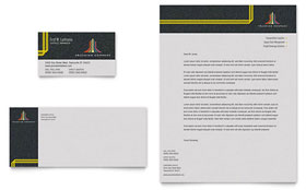 Trucking & Transport - Business Card & Letterhead Template