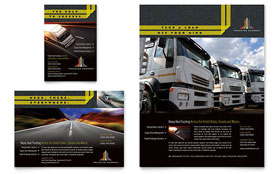 Trucking & Transport - Flyer & Ad Template Design Sample