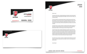 Auto Detailing - Business Card & Letterhead Template