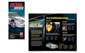 Auto Detailing - Tri Fold Brochure Template Design Sample