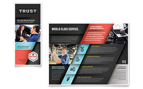 Auto Mechanic - Brochure - Microsoft Word Template Design Sample