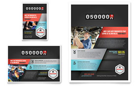 Auto Mechanic - Leaflet Template Design Sample