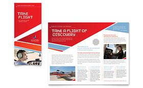 Aviation Flight Instructor - Tri Fold Brochure Template