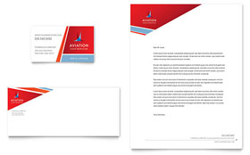 Aviation Flight Instructor - Business Card & Letterhead Template
