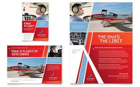 Aviation Flight Instructor - Print Ad Template
