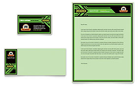 Oil Change - Business Card & Letterhead Template